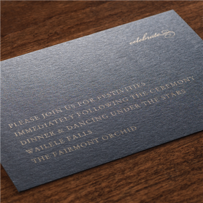 Crescendo Reception Card