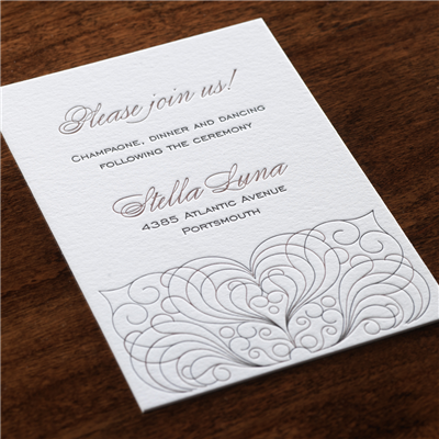 Scrolled Reception Card