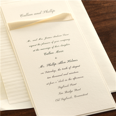Oblique Satin Invitation