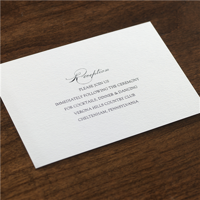 Bel Canto Reception Card
