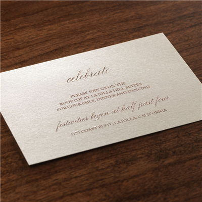 Volute Reception Card