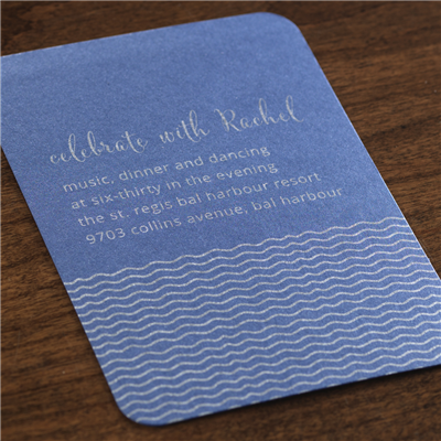 Billow Reception Card