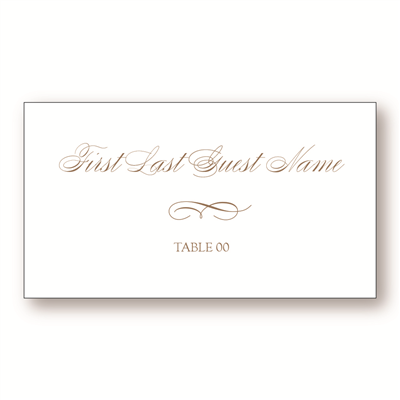 Alabaster Place Card