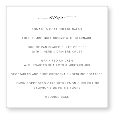Tuileries Menu