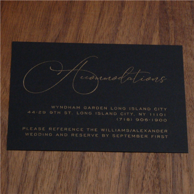 Foundry Accommodations Card