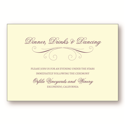 Aromatic Reception Card