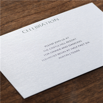 Chroma Reception Card