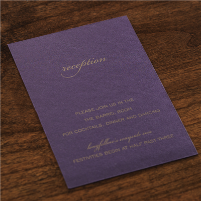 Fidele Reception Card