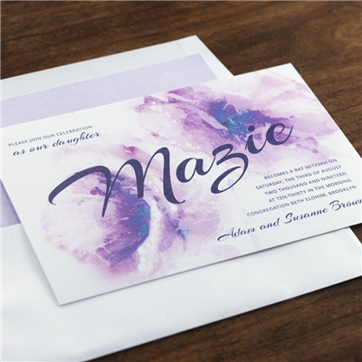 Aquarelle Invitation