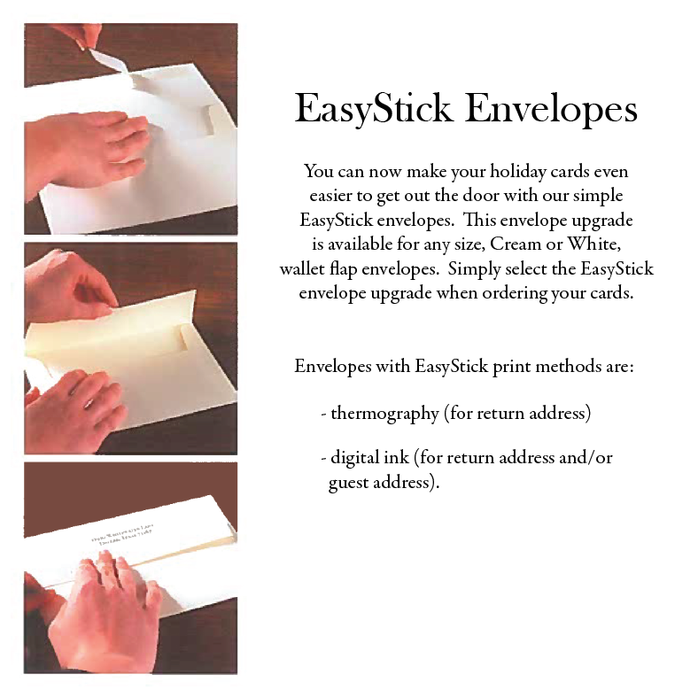 Easy Stick Envelopes